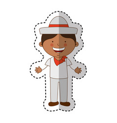 colombian little boy character vector image