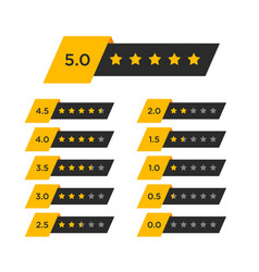 Review star rating symbol vector