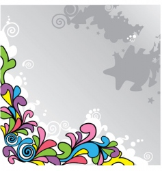 abstract cartoon background vector image