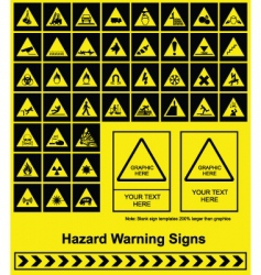 Hazard signs vector