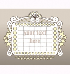 doodle marquee vector image