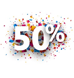 50 sale sign vector