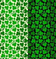 Seamless clover pattern vector