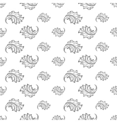 Baroque damask seamless pattern vector