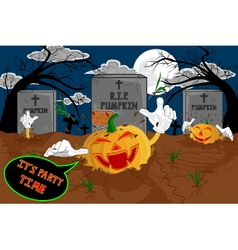 Halloween cartoon resurrect pumpkin for celebratio vector