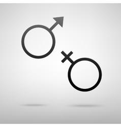 Sex sign black icon vector