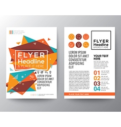 Abstract triangle shape flyer design vector