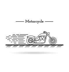 Classic motorcycle 01 vector