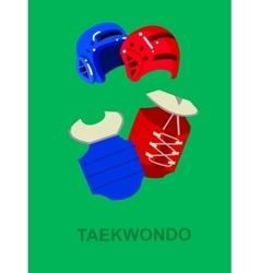 For martial art poster taekwondo vector