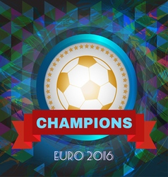 Abstract football and soccer infographic champions vector