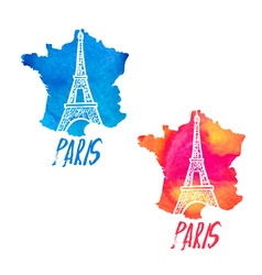 Concept logo with eiffel tower vector