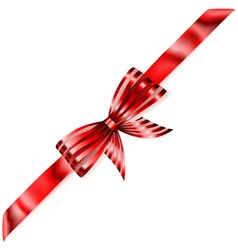 Beautiful striped red shiny bow vector image vector image