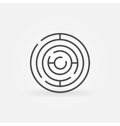 Circle maze linear icon vector image vector image