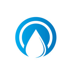 circle waterdrop nature logo vector image vector image