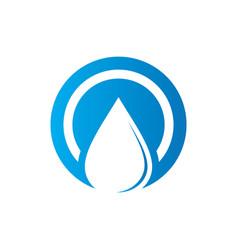 Circle waterdrop nature logo vector