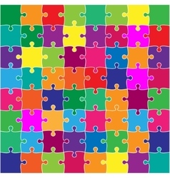 Color Puzzles Pieces Square JigSaw - 64 vector image