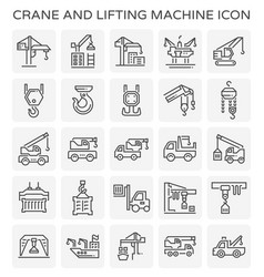 Crane lift icon vector