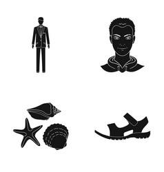 Hairdresser travel tourism and other web icon in vector