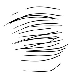 hand drawn striped pattern black and white vector image vector image