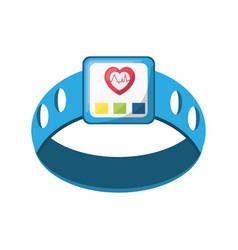 Heart rate clock vector