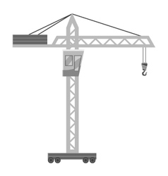 Hoisting crane icon gray monochrome style vector image vector image