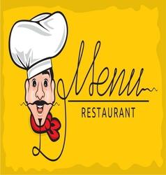 Kuvar restoran menu resize vector