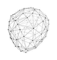 Lattice Geometric Polygonal Element 3d Grid vector image