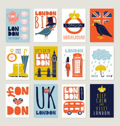 London posters and banners set vector