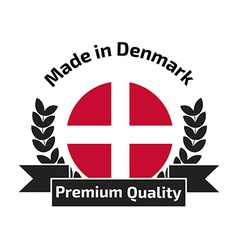 Made in Denmark labe vector image vector image