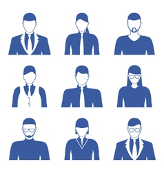 Male and female faces icons Business people avatar vector image vector image