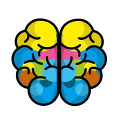 mental health brain art vector image vector image