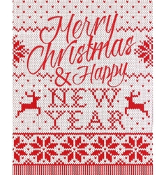 Merry Christmas and happy new year style seamless vector image vector image