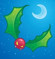 mistletoe goblin vector image vector image