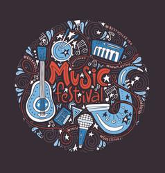 Music festival concept vector