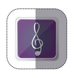 Purple symbol music sign icon vector