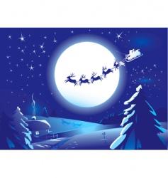 Santa Claus sleigh vector image