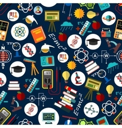Seamless pattern of science education background vector image
