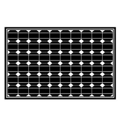 Solar panel the black color icon vector