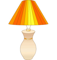 Table lamp with ornamental pattern vector