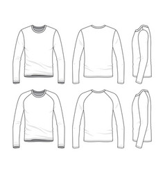 Templates of blank tee vector