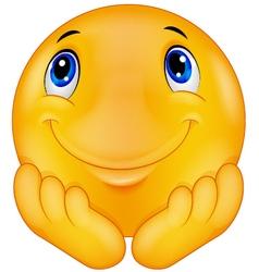 Thinking emoticon smiley vector