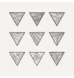 Triangles set Pattern vector image