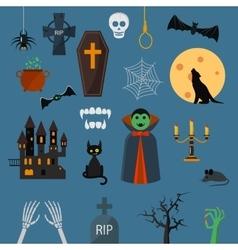 Vampire dracula symbols icons set vector image vector image
