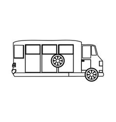 Van transport vehicle vector