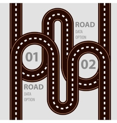 Road infographic with ways set and elements vector image