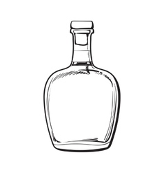 Unopened unlabeled full whiskey bottle vector image