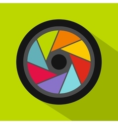 Small objective icon flat style vector