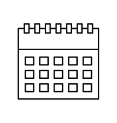 Calendar reminder with magnifying glass vector