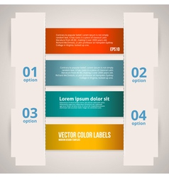 Option banner design vector