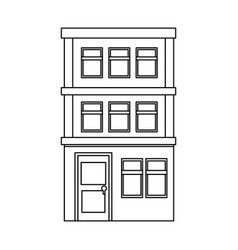 Apartment building icon vector